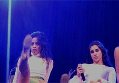 "Sync babes and Camz just keeps modeling but Lolo over here like ""OOO YAS BITCH"""
