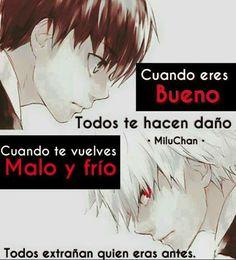 Image in frases collection by ana on We Heart It Sad Anime, Kawaii Anime, Ayato Kirishima, Love Post, I Hate My Life, Sad Love, Kokoro, Kaneki, Some Words