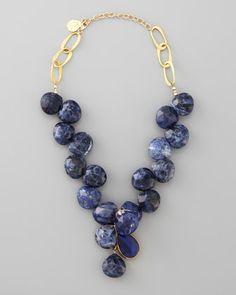 Devon Leigh Blue Sodalite Necklace -Love big gemstone jewelry www.tanyalochridge.com.