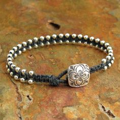 Irish+Linen+Sterling+Silver+Bracelet++Colorado+by+YarrowJewelry,+$49.00