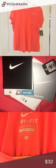 NIKE Dri Fit size 1X New with tags Nike workout shirt size 1X Nike Tops