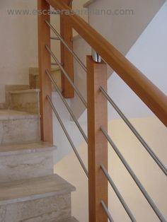 Barandillas y escaleras de madera forja hierro acero - Modelos de escaleras de madera ...