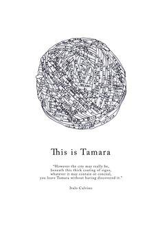 "Visual representation of Tamara, described in Italo Calvino's ""Invisible Cities"" – by Federica Fragapane on Behance"