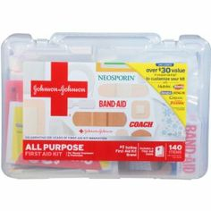 Like blood in the water for sharks, the last thing you want is to be injured while trying to outrun zombies. A basic first aid kit will resolve most cuts and scraps you will get.