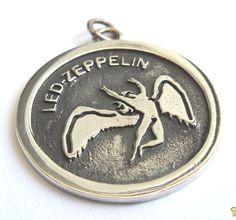 Led Zeppelin Swan Song Zoso Pendant Sterling Silver by vikigreen, $38.00