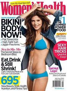 Ashley Green in Women's Health mag Ashley Green, Celebrity Bodies, Celebrity Pictures, Womens Health Magazine, Fast Workouts, Toned Abs, Summer Body, Sexy Girl, Health Tips