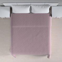 Prehoz prešívaný do kosoštvorcov. Tkaninu si vyberáte z kolekcie Velvet.  #spalna#detskaizba#prehoz#postel#prikryvka Colours, Organization, Material, Home Decor, Products, Pink, Lush, Bed Covers, Textiles
