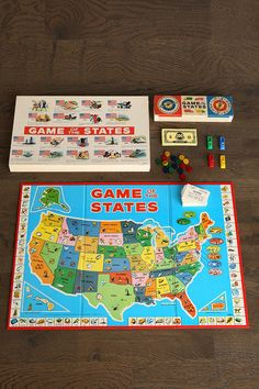 Vintage Game Of States Board Game