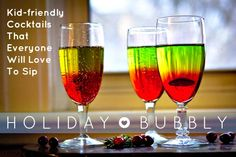 Easy Layered Mocktail: Holiday Bubbly