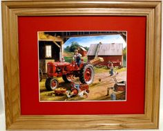 NEW IH FARMALL SUPER C TRACTOR FRMD & MTD COLLECT PRNT BY IA ARTIST C. FREITAG #InternationalHarvesterFarmall