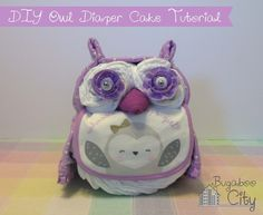 Adorable owl diaper cake - was a perfect baby shower gift for my friend!