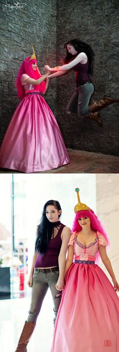 Princess Bubblegum (Lizzy Denning - https://www.facebook.com/lizzy.denning) and Marceline (Jillian Porter - https://www.facebook.com/jillian.porter.54) Photos by Soulfire Photography (https://www.facebook.com/SoulfireStudio) and Chou-wa Photography and Cosplay (https://www.facebook.com/ChouWaCosplay)