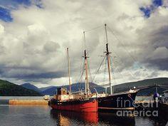 Boats at Inverary, Scotland by Lynn Bolt