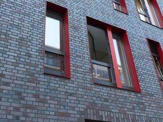 Dark Brick, Steel Framed Window Openings