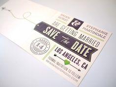 Aviation Tag Wedding Invite