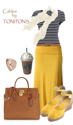 967d85d317 (Love the mustard maxi. It s different)This is fun with the navy   white  striped t-shirt