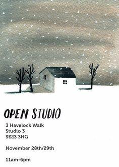 Red Cap Cards artist, Lizzy Stewart's open studio