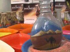 Customized Sand Art in a bottle.