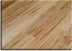 Wormy maple flooring - idea for the living room, one day...