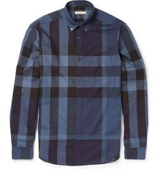 Burberry Brit Slim-Fit Plaid Cotton Shirt | MR PORTER