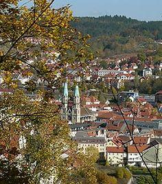 Blick auf Meiningen