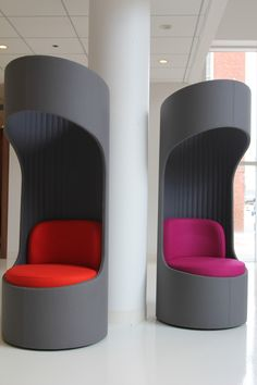 KI's Connection Zone privacy booths. #furniture #seating #NeoCon