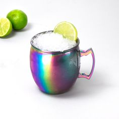 It's not a proper Moscow Mule unless you're drinking it out of an ice cold, lime-garnished Moscow Mule Mug. Thanks to a painstaking anodising process, the