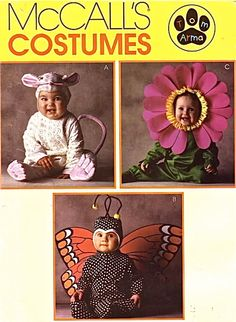 Tom Arma Costume Sewing Pattern - Butterfly Sunflower Mouse Halloween Costumes