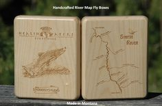 Smith River Map Fly Box - Handcrafted, Custom Designed by Stonefly Studio.  Fly fish, kayak, and save the memory of the spectacular Smith River.  Fly Fishing Montana.