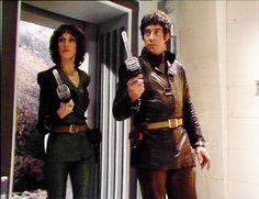 Jan Chappell and Gareth Thomas in Blake's 7 Episodes Series, Bbc Tv Series, Sci Fi Shows, Tv Shows, Demolition Man, Fantasy Tv, Classic Tv, Science Fiction