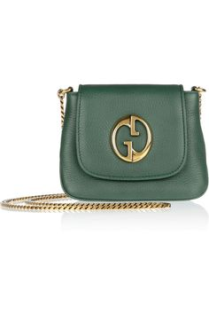 Gucci|1973 Small textured-leather shoulder bag|NET-A-PORTER.COM