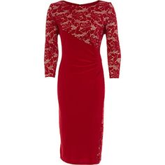 Crimson & Nuce Lace Sheath Dress