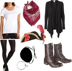 8 simple homemade costumes for women Diy Pirate Costume For Women, Female Pirate Costume, Costumes For Women, Halloween Kostüm, Diy Halloween Costumes, Costume Ideas, Party Fiesta, Pirate Woman, Homemade Costumes