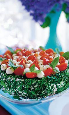 Tomaatti-mozzarellakakku   Maku