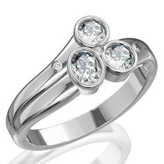 Contemporary engagement ring from Blackcarat