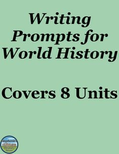 World History Essay Prompts?
