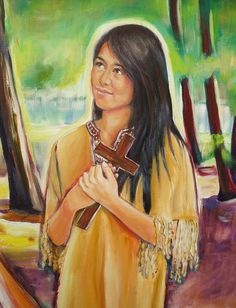 """""""I am not my own - I have given myself to Jesus. He must be my only love."""" Saint Kateri Tekakwitha"""