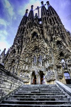 Gaudi's Sagrada Familia, Barcelona, Spain ( English: Basilica and Expiatory Church of the Holy Family)