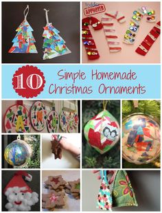 Toddler Approved!: 10 Simple Homemade Christmas Ornaments