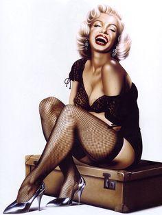 Marilyn Monroe - Pin-Up Art by Carlos Diez