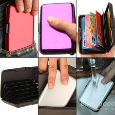 Waterproof Business ID Credit Card Wallet Holder Aluminum Metal Case Box - US$4.99