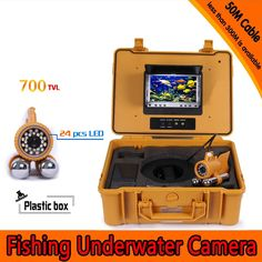344.48$  Watch now - http://ali9ew.worldwells.pw/go.php?t=32635902820 - (1 Set) 50M Cable 7 inch TFT-LCD Color Screen HD 600TVL CMOS 24 White IR LED light WaterProof Camera Underwater Fishing Finder