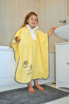 2a9775387 Our new Sunshine Zoo bath poncho with hood is made from lovely soft 100%  terry