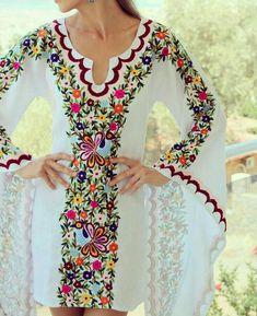 from vyshyvanka vyshyvanka_by_fanmmon bohemianstyle chicnationale folknouveau itdress luxurystyle festivalseason… Embroidery Fashion, Embroidery Dress, Embroidered Blouse, Modest Fashion, Boho Fashion, Fashion Outfits, Mode Kimono, Batik Fashion, Royal Dresses