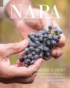 Cover shot for Napa Valley Vintners Napa Magazine. Few shots inside as well.