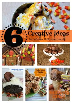 Great ideas to use up that left over Halloween candy!