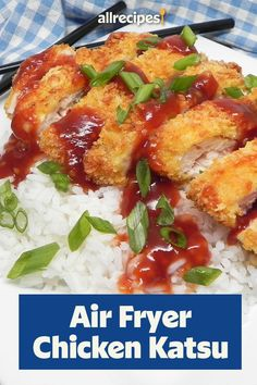 This air fryer chicken katsu recipe is a quick and easy Japanese dinner recipe! Cover chicken breasts in breadcrumbs and air fry them for 20 minutes. Then, combine ketchup, soy sauce, brown sugar, sherry, Worcestershire sauce, and garlic to create an easy katsu sauce. You and your family will love eating this Asian cuisine for a weeknight meal! Chicken Katsu Recipes, Pan Fried Chicken, Katsu Sauce Recipe, Weeknight Meals, Easy Meals, Sauce Recipes, Cooking Recipes, Japanese Dinner, Recipe Cover