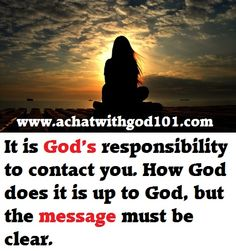 GOD'S MESSAGE MUST BE CLEAR. Live Your Life, Live For Yourself, No Response, Messages, God, Dios, Text Posts, Text Conversations