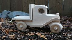 Flatbed Wood Toy Truck-Handmade, Vintage Model, Push Pull Toy, All Natural Toy