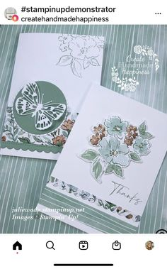 Butterfly Cards, Flower Cards, Diy Cards Crafts, Stampin Up Catalog, Stamping Up Cards, Pen And Paper, Creative Cards, Cute Cards, Scrapbook Cards